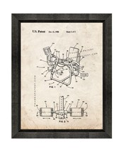 Leg Exercise Machine Patent Print Old Look with Beveled Wood Frame - $24.95+