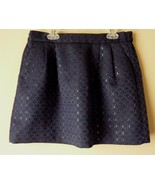 Frenchie Navy Blue mini Skirt Geometric design Size S - $14.65