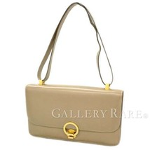 HERMES Ring Beige Veau Box #D France Vintage Shoulder Bag Authentic 4884477 - $1,455.62