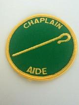 Chaplain Aide Position Patch Boy Scouts BSA Cane Round Green Vintage - $6.38