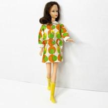 Vintage Clone Barbie Clothes Doll Outfit RETRO Mod Era MINI DRESS Multi ... - $62.88