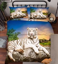 3D Sunset Tiger Bed Pillowcases Quilt Duvet Cover Set Single Queen King Size AU - $90.04+