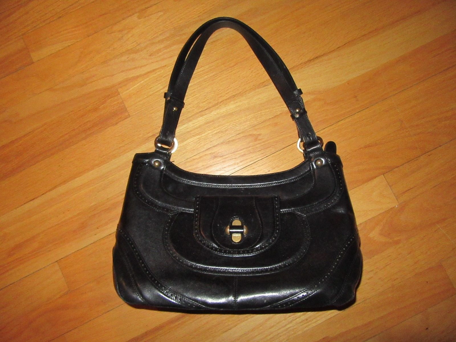 0afd2203d6 7Z AUTHENTIC Brahmin Smooth Black Leather and 50 similar items