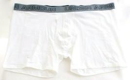 """Under Armour White Cotton Stretch 6"""" Boxerjock Boxer Brief Underwear  Me... - $18.74"""