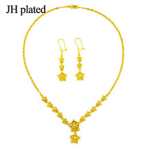 African Ethiopia brides wedding gold color Five-pointed star jewelry set... - $21.21