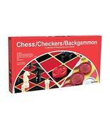 Pressman Chess / Checkers / Backgammon - 3 Games in One with Full Size S... - $6.43