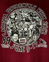 Motorcycle Week 2012 Lacoina 89th-Weirs Beach, Men's Souvenir T-Shirt-Gi... - $12.92