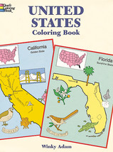 Dover Publications-United States Coloring Book - $9.67