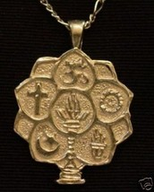 LOOK Celtic Tree of Life Pendant 24K Yellow Gold Plated Charm Jewelry - $20.46
