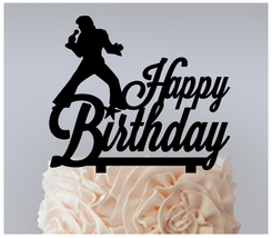 Birthday Cake topper,Cupcake topper,silhouette rock and roll Package : 1... - $20.00