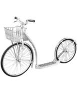 "20"" ALUMINUM SCOOTER Lightweight Genuine Amish Silver Kick Bike USA MADE... - $375.33"