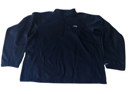 The North Face Ultrawick Mens Sz XL Warmup Pullover 1/2 Zip Top Navy Blue - $29.58