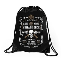 Aged 46 Years Vintage Dude Drawstring Bags - $30.00