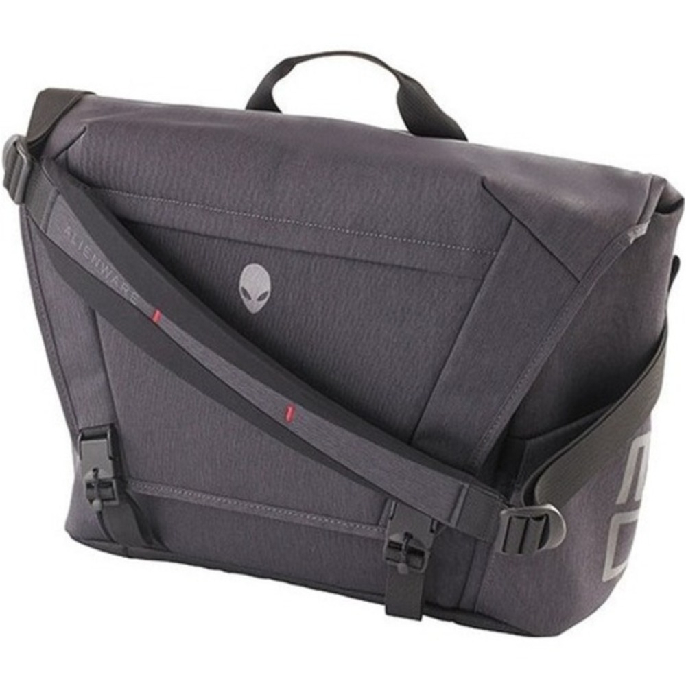 Primary image for Mobile Edge Alienware Carrying Case (Messenger) Notebook, Tablet - Gray, Black -