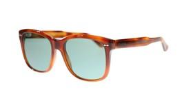 NEW STYLE Gucci Men's Sunglasses GG0050S 002 Havana/Green Lens Rectangular 56MM - $210.49