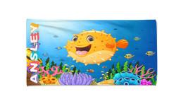 Balloon Fish Personalized Beach Kids Towel , Summer Gift ,Bath Towel, Po... - $24.99+