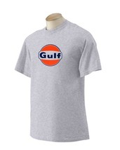 Gulf 'B' Gasoline T-shirt  Decal Signs Motor Oil Gas Globes - $14.95+