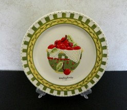 Mary Engelbreit Enesco Collector Luncheon Plate Raised Apples in Basket - $12.75