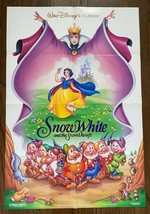 Disney's SNOW WHITE AND THE SEVEN DWARFS (1937) Original Double-Sided On... - $50.00