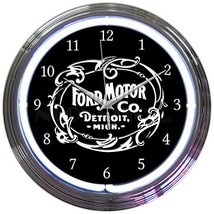 Neonetics Ford Motor Company 1903 Heritage Emblem NEON Clock - $89.23