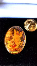 vintage cameo guardian angel, from usa Metal Enamel Badge Lapel /tie Pin Badge   image 2