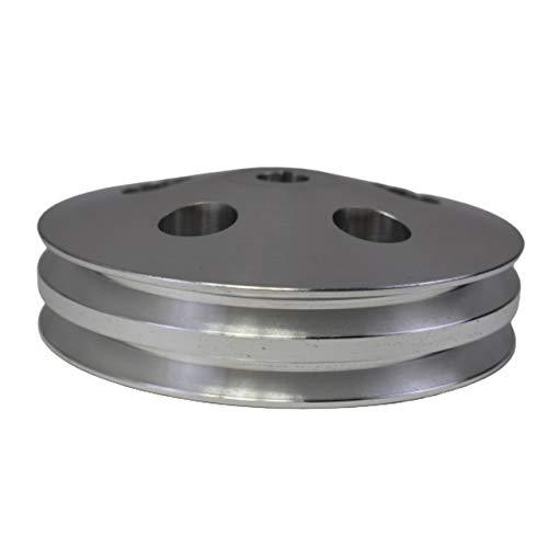 A-Team Performance Saginaw Power Steering Pump Double-Groove Aluminum Pulley Com