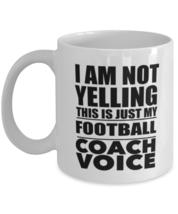 Football Mug, Football Coach Gift, Football Coach Voice, Soccer Coffee Mug,  - $14.95