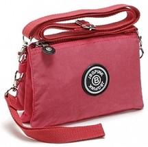 3 Layer Zipper Nylon Wallets For Women Wristlet Bag Purse Waterproof Cel... - $25.11