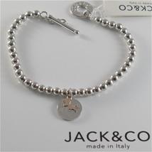 925 RHODIUM SILVER JACK&CO BRACELET 9KT ROSE GOLD JACK RUSSEL DOG  MADE IN ITALY image 1