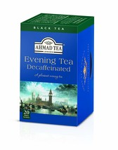 Ahmad Tea Decaffeinated Evening Tea, 20-Count Boxes Pack of 6 - $28.20