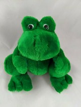 "Ganz Croaker Green Frog Toad Plush 8"" 1997 P2534 Sounds Work Stuffed Ani... - $10.18"