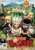 Dr.Stone Vol.1-24 End English Dubbed Ship From USA
