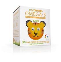 Coromega Kids Omega-3 Fish Oil Squeeze Packets, EPA and DHA, Brain Healt... - $13.09