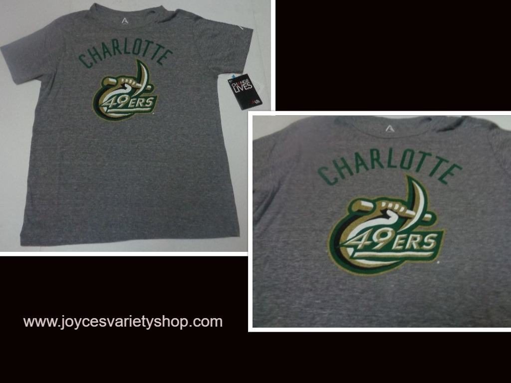 Charlotte 49ers shirt web collage
