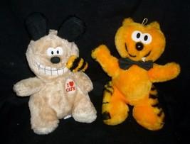 "10"" Vintage Ace Novelty Heathcliff Cat & Spike Bulldog Stuffed Animal Plush Toy - $32.38"