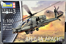Revell AH-64A Apache Helicopter Model Kit (2016 New 1:100 Level-3 German... - $18.79