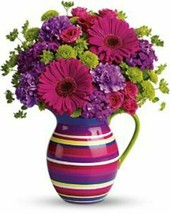 Teleflora's Rainbow Pitcher Style# 10M300 - VASE ONLY - $24.58