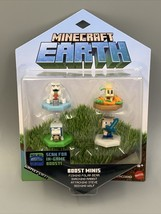 Minecraft Earth - Boost Minis 4 Pack Nfc Chip Ar In-Game Boost! Free Shipping! - $15.84