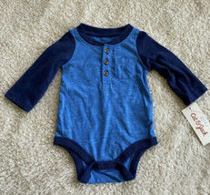 Cat & Jack Baby Blue Boy Long Sleeve One Piece - $4.94
