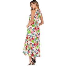Maternity's Dress V Neck Floral Print Long Slip Dress image 6
