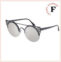 BVLGARI SERPENTEYES BV6088 Black Silver Mirrored Metal Flat Sunglasses 6088 image 4