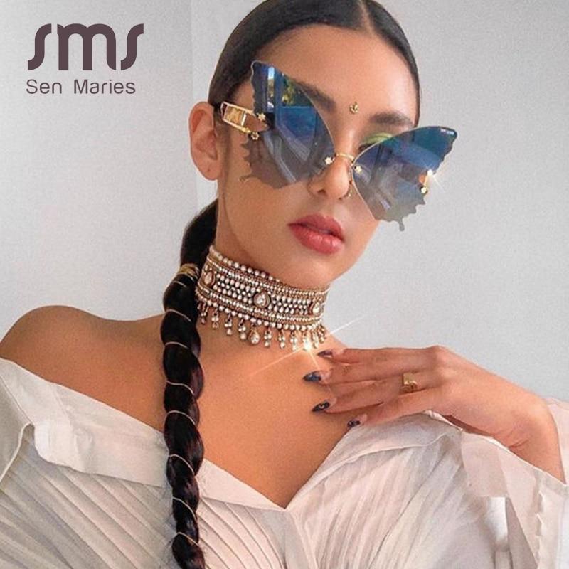 Glasses women luxury brand designer fashion oversized steampunk sunglasses vintage eyewear uv400