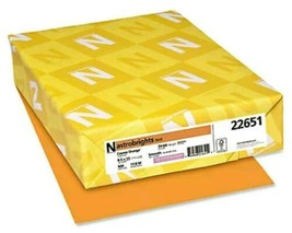 Neenah Paper Astrobright Colored Card Stock 65 lb. 8-1/2 x 11 Cosmic Ora... - $15.35