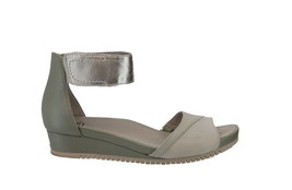 Earth Leather Wedge Sandals Ficus Sagittarius Light Silver 9M NEW A372561 - $111.85