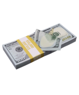 $10,000 New Style $100 Full Print Bills Prop Money Stack - $13.99