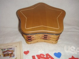 Longaberger 2003 Proudly American Star Basket Set Plus Lid - $45.99