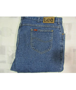 Vintage Lee Riders 44 X 32 Mens Blue Denim Jeans Made In USA Cotton Heav... - $34.99