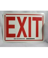 Brady 80283 Exit Sign,7 x 10 In, R / WHT, Exit, ENG,Text - $10.34