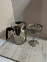 Vintage Flint Ekco Stove Top Percolator Coffee Pot 8 Cup Stainless Steel  - $24.98
