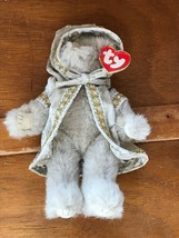 Ty Gwyndolyn All that Glitters Tan Jointed Plush Bear with Velvet Hooded... - $8.59